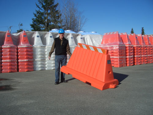 Light and easy to life Plastic Barricades Premier Plastics