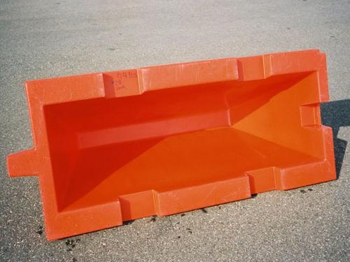 Hollow plastic barricades Premier Plastics